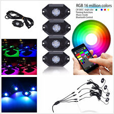 4in1 Autos Pickup Multi-Color LED Bluetooth Music Rock Lamp Chassis Decor Lights