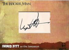 The Wicker Man Cut Auto Card WMIP5 Ingrid Pitt as the Librarian