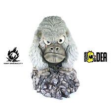 Gorilla Animal Resin Figure Statue Toy Chibi Scar-Bro Designer Master K -White-