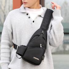 Mens Sling Bag Chest Pack Shoulder Bag USB Port Anti Theft Travel Cross Body Bag