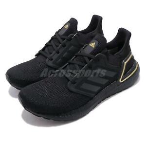 adidas Ultraboost 20 Black BOOST Gold Mens Road Running Shoes EG0754