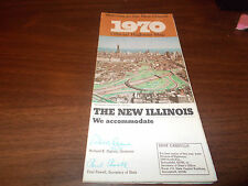 1970 Illinois State-issued Vintage Road Map