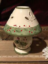 Lenox China Christmas Candle Holder LampShade Holiday