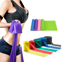 1.5/1.8m Elastic Yoga Rubber Stretch Resistance Exercise Fitness Band Belt N^^