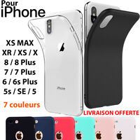 COQUE HOUSSE ETUI ULTRA FINE POUR IPHONE 6 5 7 8 X PROTECTION SILICONE SOUPLE