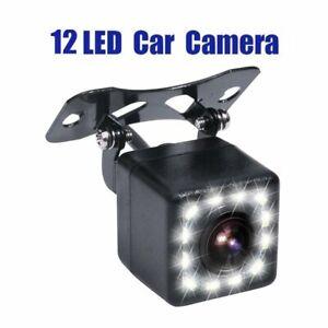 170° Car Reverse Camera Rear View Night Vision Parking Backup Waterproof 12LED O