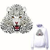 Leopard Iron on Stickers Washable Heat Transfer Patches For Clothes Appli LD