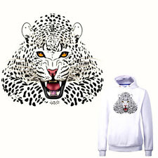 Leopard Iron on Stickers Washable Heat Transfer Patches For Clothes Applique HT