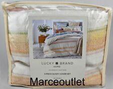 Lucky Brand Home Baja Stripe FULL / QUEEN Duvet Cover & Shams Set Multi