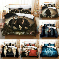 Supernatural 3PCS Bedding Set Duvet Cover Pillowcase SPN Comforter Cover US Size