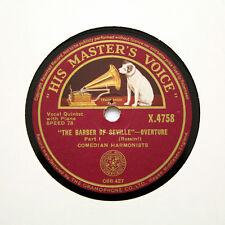 "COMEDIAN (COMEDY) HARMONISTS ""The Barber Of Seville"" (E+) HMV X-4758 [78 RPM]"