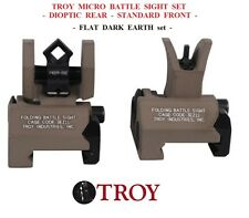 Troy Industries MICRO SIGHT SET - SSIG-MCM-SSFT-00 - Rear Dioptic - Front - FDE