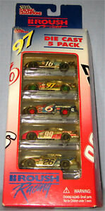 1998 Roush Racing 5 Pack 1:64 Scale NASCAR Diecast Cars