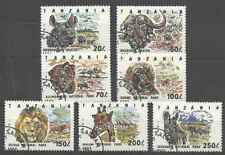 Timbres Animaux Tanzanie 1442/8 o lot 27558