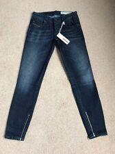 Nouveau Diesel femme grupee zip 0609J super skinny jeans W25 L30 (1138)