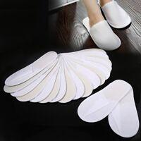 10 Paar Slipper Spa Hausschuhe Einweg Hotel Schuhe Sauna Pantoffeln Weiß