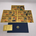 5PCS Fairy Tail Japanese Manga Gold Anime Banknotes For Fans Gift