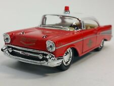 "5"" Kinsmart 1957 Chevrolet Bel Air Fire Chief 1:40 Diecast Model Toy Car Chevy"