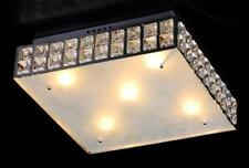 New 40cm Modern Square Crystal Flush mount Ceiling Light With Glass Pendent Lamp