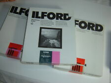 Ilford 3 Boxes of 100 sheets 8x10 B&W photo printing paper
