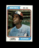 Larry Lintz Signed 1974 Topps Montreal Expos Autograph