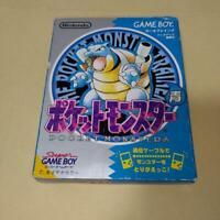 Nintendo Gameboy Pokemon Blue Version Pocket monsters GB Japan With box Retro