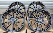 """17"""" BLACK NOV 02 ALLOY WHEELS FOR 5X112 VW TIGUAN TOURAN SCIROCCO TRANSPORTER"""