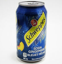Schweppes Blueberry Peach Ginger Ale Soda 355 ml Can NEW FREE FAST SHIPPING
