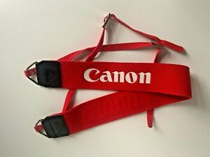 Vintage Red Canon Camera Strap - Excellent Condition Free UK Postage