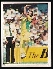 1983 Scanlens Cricket Sticker unused number 88 Dennis Lillee