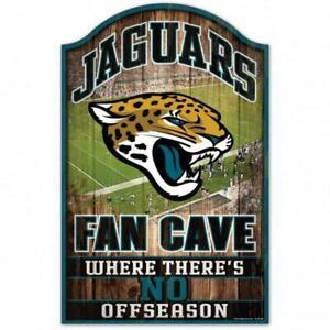 "Jacksonville Jaguars Fan Cave Design Wood Sign - 11"" x 17"" [NEW] NFL Wall Man"