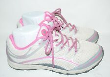 Womens Nearly New Merrell Trail Shoes Size 8.5 US White Pink Flawless
