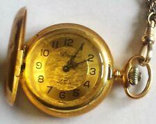 Vintage Arnex Mini Pocket or Pendant Watch w/ chain; 17-Jewel Incabloc Mvmt.