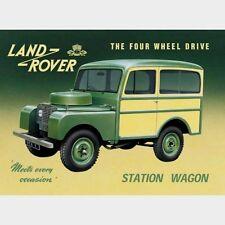 VINTAGE LAND ROVER Station wagon AUTO D'Epoca Pubblicità Segno di ripro 625