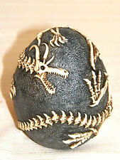 """New Collectible Flying Dragon Fossilized Egg Trinket Stach Box Holder 5"""" Cool"""