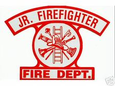 JUNIOR FIREFIGHTER Highly Reflective Fire Department  DECAL