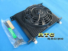 Universal 30 Row 10 AN Transmission Oil Cooler + 7 INCH FAN
