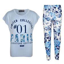 T-shirts et débardeurs bleus en polyester pour fille de 2 à 16 ans