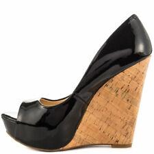 Jessica Simpson Women's Bethani Wedge Pump Black Patent 4