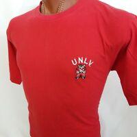 Starter University Nevada Las Vegas Rebels UNLV Embroidered T Shirt L