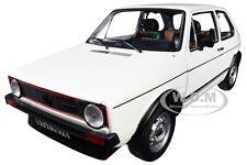 1976 VOLKSWAGEN GOLF GTI WHITE 1/18 DIECAST MODEL CAR BY NOREV 188484