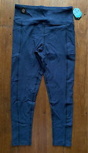 Lularoe Rise Brave Ankle Fitness Legging Large L Beautiful Heathered Blue Print