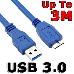 USB 3.0 Male A to Micro B Hard Drive Flexible Cable For Seagate WD PC & Camera