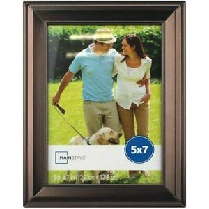 """Mainstays Antique Oil-Rubbed Bronze Metal Photo Picture Frame, 8 x 10""""  New"""