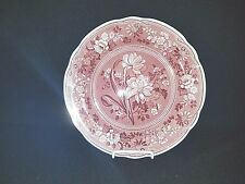 Spode ARCHIVE COLLECTION GEORGIANA SERIES (Pink) - Dinner Plate BOTANICAL