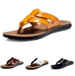 Mens Beach Flip-Flops Holiday Slingbacks Thong Slippers Clip Toe Walking Slip-On