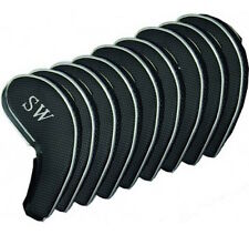 NEW  MAGNETIX GOLF CLUB IRON HEAD COVERS. Set Of 9 With Magnetic Fasteners 3-SW.