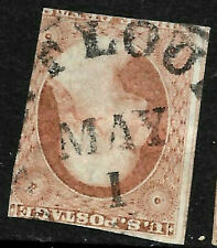 """Sc #10/11 Imperf """"May 1"""" Date Fancy Cancel SON 3 Cent Washington 1851-61 US69B62"""