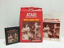 MATH GRAN PRIX * Atari 2600 CX2658 * Complete CIB 1982 * + Free Shipping