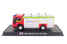 New 1:64 Diecast Fire Engine Major Rescue FL 614 UK British Fire Truck Vehicle